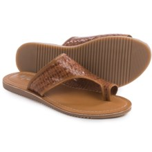 Matisse Davie Woven Leather Sandals (For Women) in Cognac - Closeouts