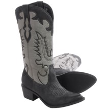 Matisse Desperado Cowboy Boots - Vegan Leather (For Women) in Black/Grey - Closeouts