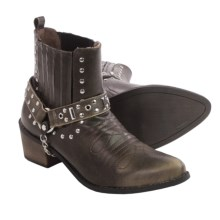 Matisse El Camino Ankle Western Boots - Vegan Leather (For Women) in Black - Closeouts