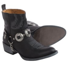 Matisse Hoss Short Cowboy Boots - Vegan Leather (For Women) in Black - Closeouts