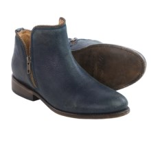 Matisse Kerr Ankle Boots - Leather (For Women) in Blue Leather - Closeouts