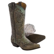 Matisse Marfa Cowboy Boots (For Women) in Brown/Turquoise - Closeouts