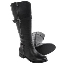 Matisse Militia Leather Riding Boots - Wide Calf (For Women) in Black - Closeouts