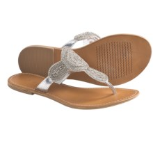 Matisse Mimosa Thong Sandals (For Women) in Silver - Closeouts