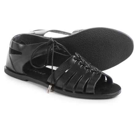 Matisse Nora Lace-Up Sandals - Leather (For Women) in Black Leather - Closeouts