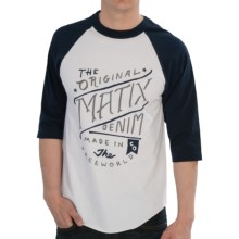 Matix Freeworld Baseball T-Shirt - 3/4 Sleeve (For Men) in Navy - Closeouts