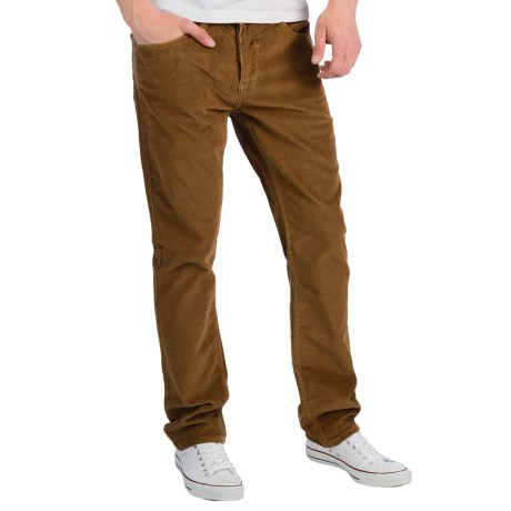 Matix Gripper Corduroy Pants - Slim Straight Cut (For Men) in Acorn