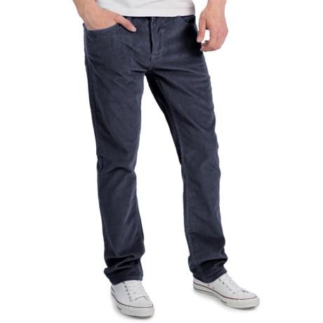 Matix Gripper Corduroy Pants - Slim Straight Cut (For Men) in Black