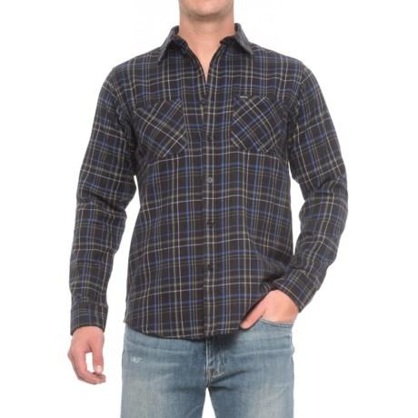 Matix Portland Flannel Shirt - Long Sleeve (For Men) in Navy