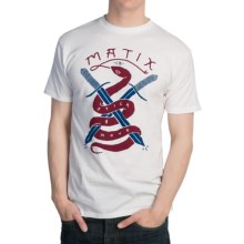 Matix Snakes T-Shirt - Short Sleeve (For Men) in White - Closeouts