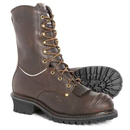 Matterhorn Leather Logger Work Boots - Composite Safety Toe, Waterproof, Insulated (For Men) in Brown
