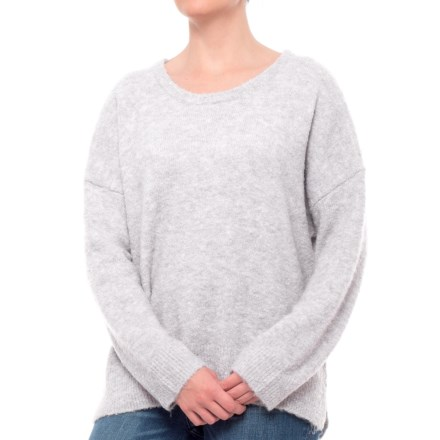 498a9885d26f88 matty m Scoop Neck Sweater (For Women) in Pebble - Closeouts
