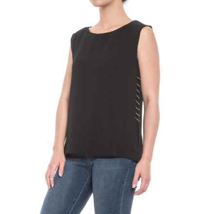 Maude Vivante Grommeted Ring Tank Top (For Women) in Black - Closeouts