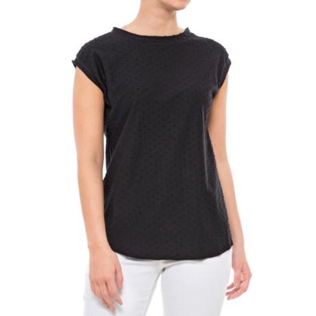 Maude Vivante Split Back T-Shirt - Short Sleeve (For Women) in Black