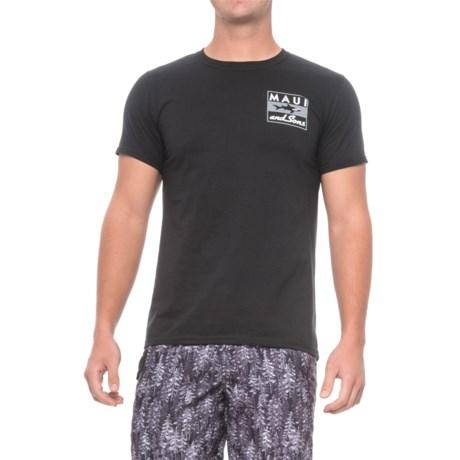 Maui & Sons Classic Shark T-Shirt - Short Sleeve (For Men) in Black