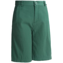 Maui & Sons Pacific Ave Shorts - Cotton (For Boys) in Green - Closeouts