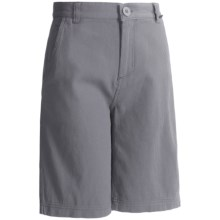 Maui & Sons Pacific Ave Shorts - Cotton (For Boys) in Grey - Closeouts