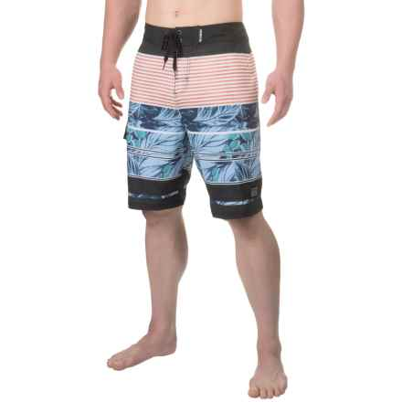 Maui & Sons Pipeline Boardshorts (For Men) in Blue - Closeouts