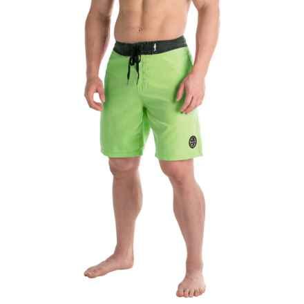 Maui & Sons Rad Ride Color-Block Boardshorts (For Men in Green - Closeouts