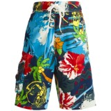 Maui Waves Draw Waist Swim Trunks - Built-In Brief (For Youth Boys)