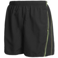 Maui Waves Solid Swim Trunks (For Men) in Black - Closeouts