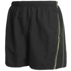 Maui Waves Solid Swim Trunks (For Men) in Black