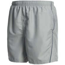 Maui Waves Solid Swim Trunks (For Men) in Grey - Closeouts
