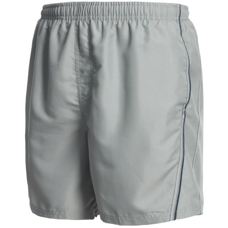 Maui Waves Solid Swim Trunks (For Men) in Grey