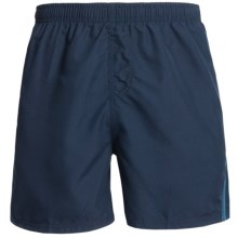 Maui Waves Solid Swim Trunks (For Men) in Navy - Closeouts