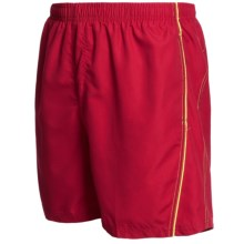Maui Waves Solid Swim Trunks (For Men) in Red - Closeouts