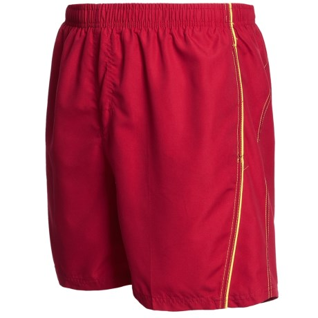Maui Waves Solid Swim Trunks (For Men) in Red