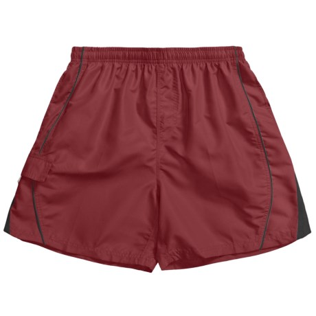 Maui Waves Swim Trunks - Built-In Brief (For Men) in Rust