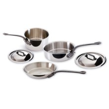 Mauviel M'Cook Stainless Steel Cookware Set - 5-Piece, Cast Iron Handles in See Photo - Closeouts
