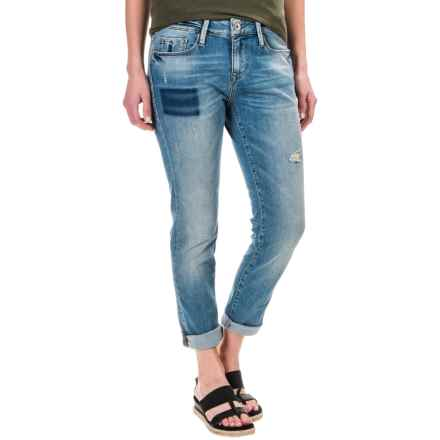 Mavi Ada Boyfriend Jeans - Stretch Cotton (For Women) in Shaded Ripped Vintage - Closeouts