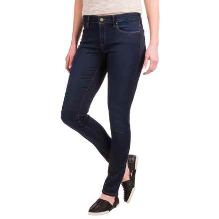 Mavi Adriana Sateen Super Skinny Jeans - Stretch Cotton Blend (For Women) in Deep Sateen Shanti Popstar - Closeouts