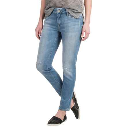 Mavi Adriana Super Skinny Ankle Jeans - Mid Rise, Straight Leg (For Women) in Lt Indigo Used Vintage - Closeouts