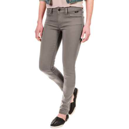 Mavi Adriana Super Skinny Pants (For Women) in Smoke Gold Sateen - Closeouts