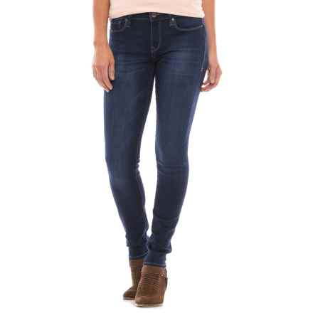 Mavi Alexa Sateen Skinny Jeans - Mid Rise (For Women) in Dark Sateen - Closeouts