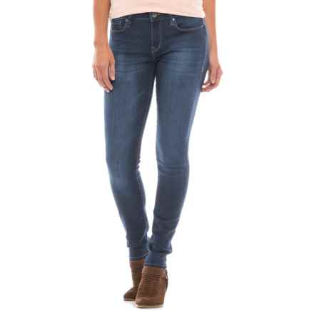 Mavi Alexa Sateen Skinny Jeans - Mid Rise (For Women) in Indigo Blue Sateen - Closeouts