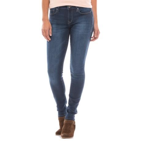 Mavi Alexa Sateen Skinny Jeans - Mid Rise (For Women) in Indigo Blue Sateen