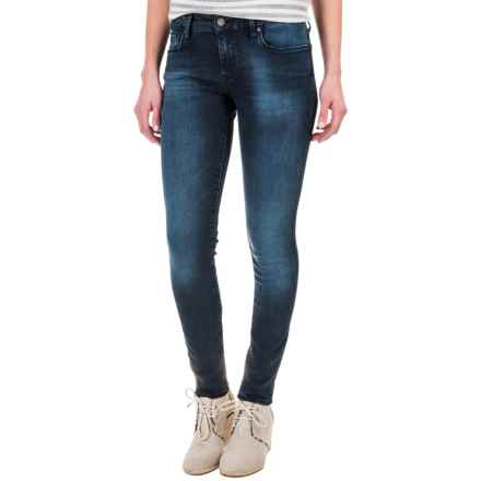 Mavi Alexa Skinny Jeans - Stretch Cotton Blend, Mid Rise (For Women) in Foggy Tribeca - Closeouts