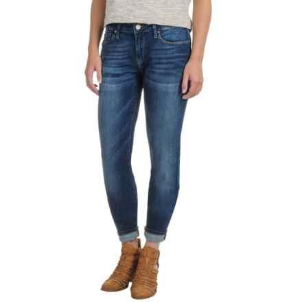 Mavi Alexa Skinny Jeans - Stretch Cotton, Mid Rise (For Women) in Dark Indigo Tribeca - Closeouts