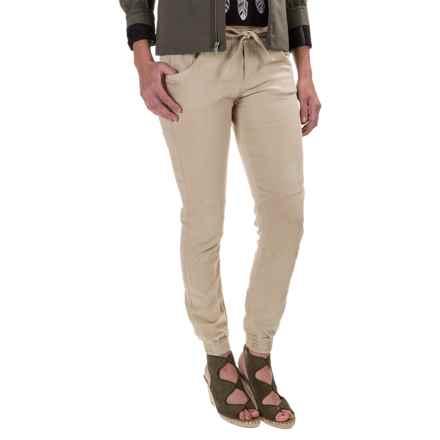 Mavi Aubrey Joggers - Stretch Cotton (For Women) in Sand - Closeouts