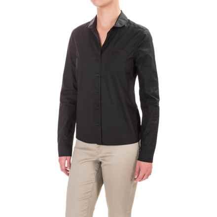 Mavi Basic Round Collar Shirt - Long Sleeve (For Women) in Black - Closeouts