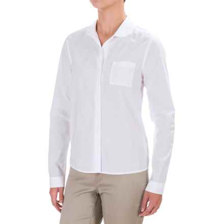 Mavi Basic Round Collar Shirt - Long Sleeve (For Women) in White - Closeouts