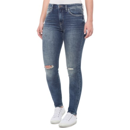 61f05708c0b43a Mavi Dark Ripped Nolita Lucy Skinny Jeans (For Women) in Dark Ripped Nolita  -