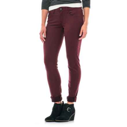Mavi Jeans Alexa Sateen Skinny Jeans (For Women) in Burgundy - Closeouts