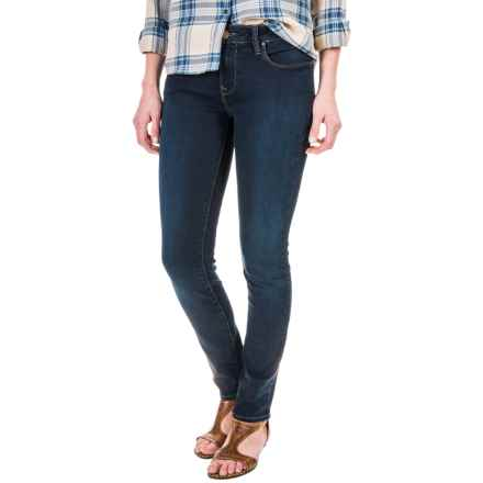 Mavi Jeans Alexa Skinny Jeans - Stretch Cotton, Mid Rise (For Women) in Deep Sateen Shanti Popstar - Closeouts