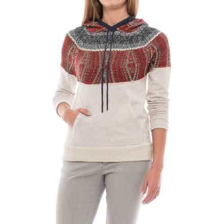 Mavi Jeans Tribal Print Hoodie Sweater (For Women) in Oatmeal - Closeouts