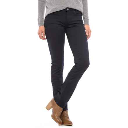 Mavi Kerry Cigarette Leg Jeans - Stretch Cotton Blend, Mid Rise (For Women) in Rinse Tribeca - Closeouts